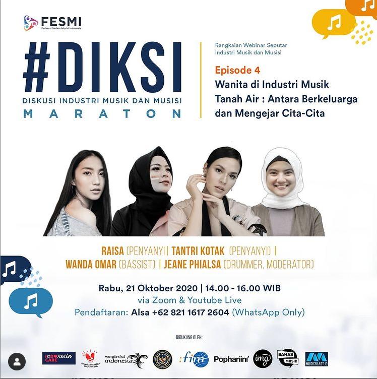 #DIKSI MARATON | Diskusi Industri Musik dan Musisi Episode 4: Wanita di Industri Musik Tanah Air: Antara Berkeluarga dan Mengejar Cita-Cita.