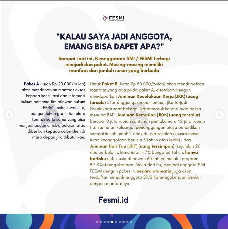 Musisi Chandra Darusman Ajak Pekerja Seni Anggota Fesmi Menjadi Peserta BPJAMSOSTEK Agar Terlindungi