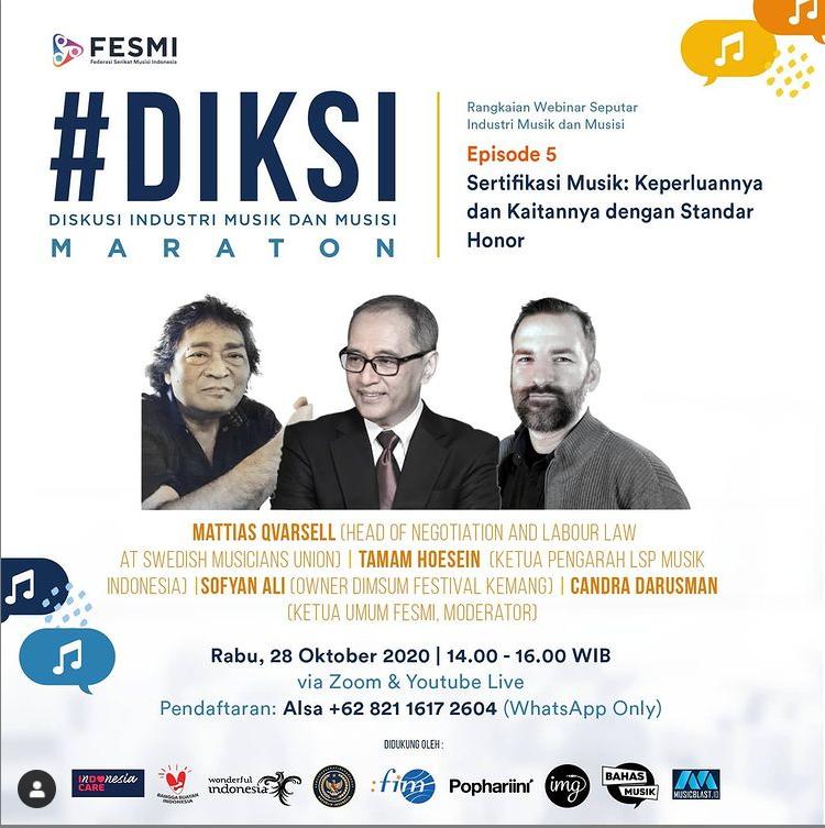 Webinar FESMI, Pentingnya Collective Agreement di Industri Musik